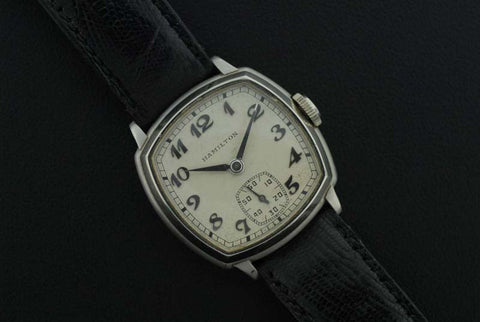 Hamilton Stainless Steel Back Leathered Watch - SOLD