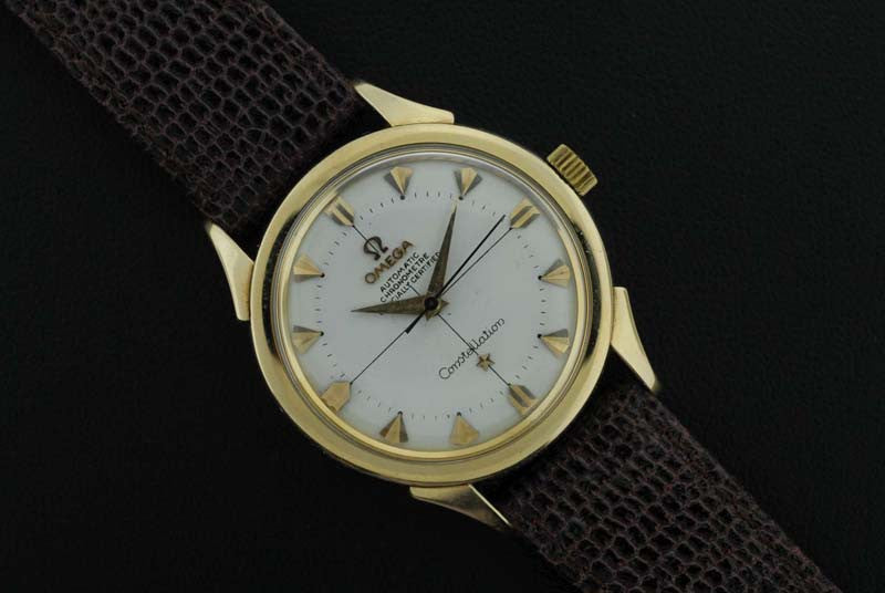 "Omega <i class=hide"">2</i>1954 Gold Plated Constellation Timepiece"" - SOLD"