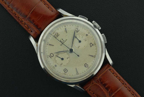 Omega 1944 chronograph stainless steel  vintage watch