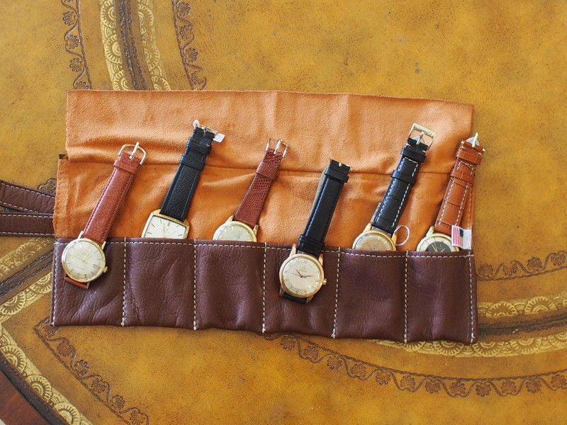 Jackmond Leather Travel Watch Pouch