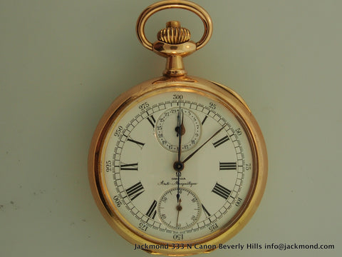 Omega Anti Magnetic Pocket watch 18K