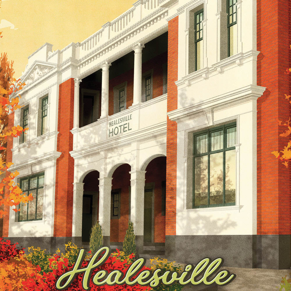 Healesville Hotel Yarra Valley colour print close up by Harper and Charlie