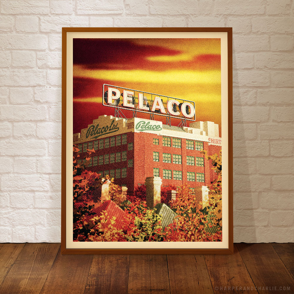 Pelaco Sign, Richmond Colour Print Framed by Harper and Charlie