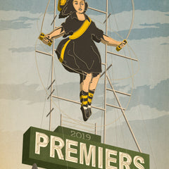Richmond 2019 Premiers Skipping Girl Colour Print Close Up by Harper and Charlie