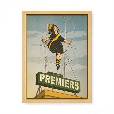 Richmond 2019 Premiers Skipping Girl Colour Print