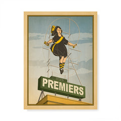 Richmond 2019 Premiers Skipping Girl Colour Print by Harper and Charlie