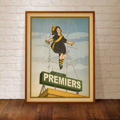 Richmond 2019 Premiers Skipping Girl Colour Print Framed by Harper and Charlie