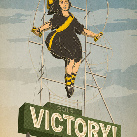 Richmond Victory Skipping Girl Print Close Up