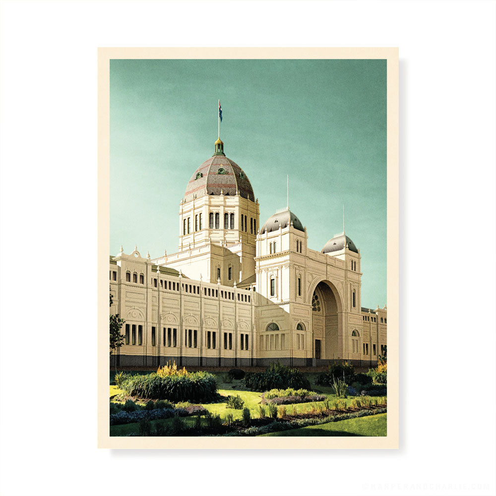 Royal Exhibition Building Blue Sky Colour Print
