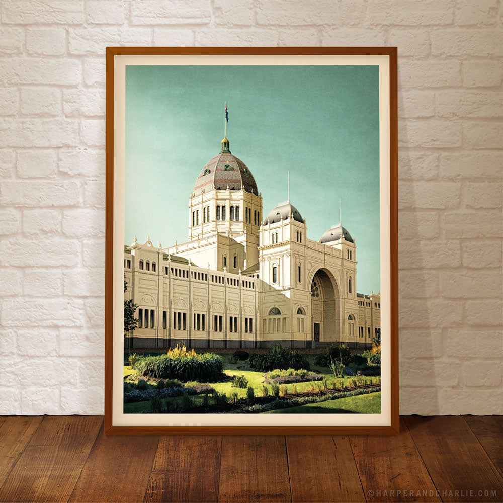 Royal Exhibition Building Blue Sky Framed Colour Print