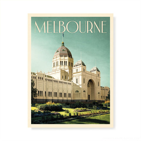 Royal Exhibition Building Melbourne Blue Sky Colour Print