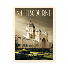 Royal Exhibition Building Melbourne Grey Sky Colour Print