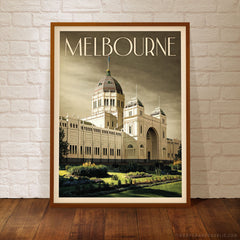 Royal Exhibition Building Melbourne Grey Sky Framed Print