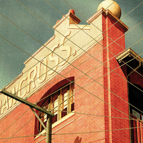 Shawcross Building, Brunswick Street, Fitzroy Colour Print