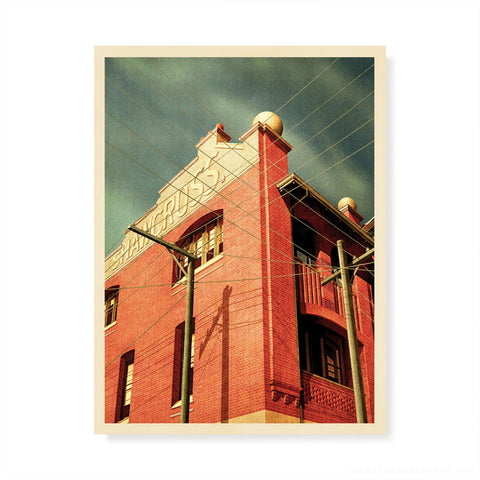 Retreat Hotel, Abbotsford Colour Print