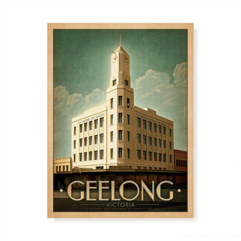 T & G Building Geelong colour print by Harper and Charlie