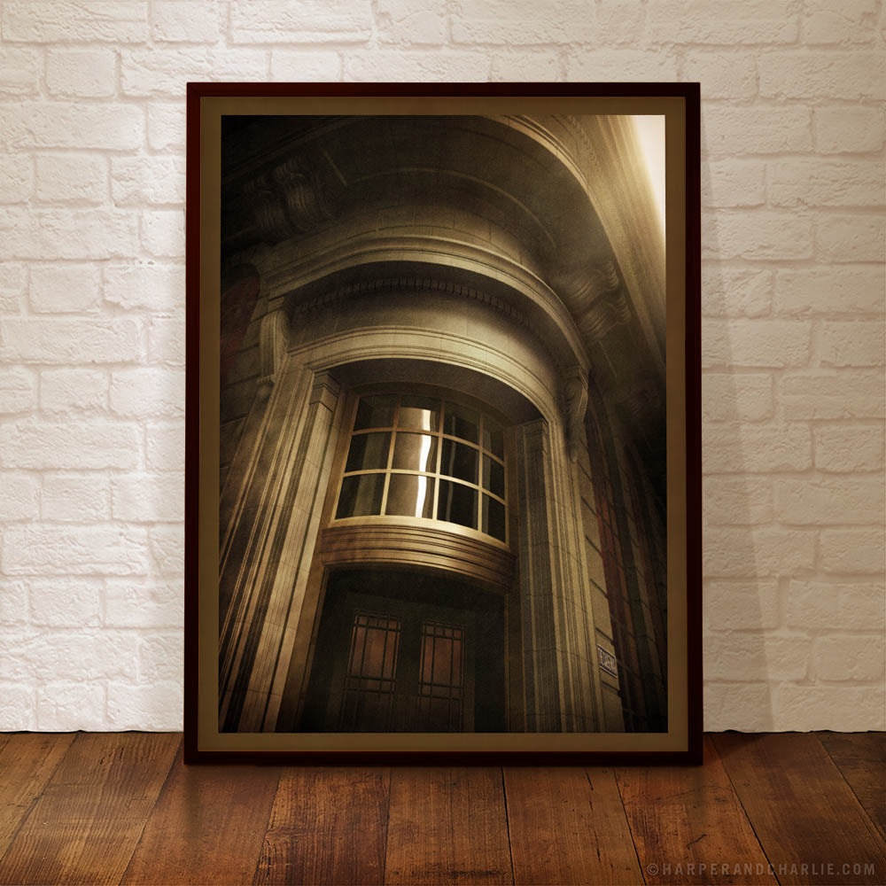 Union Bank Building, Little Collins Street, The Causeway, Melbourne Colour Print Framed