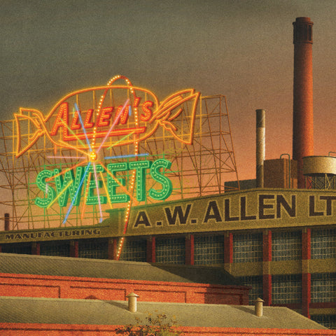Allen's SWEETS Sign Colour Print Close Up