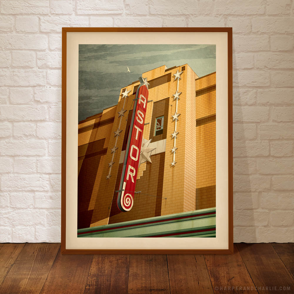 Astor Theatre, St Kilda colour poster