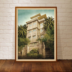 Beverley Hills Apartments colour print framed by Harper and Charlie