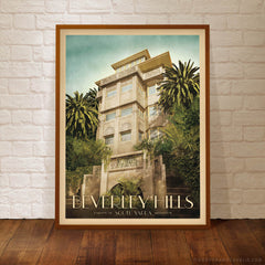 Beverley Hills Apartments South Yarra Colour Print Framed by Harper and Charlie