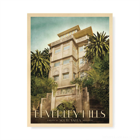 Beverley Hills Apartments South Yarra Colour Print by Harper and Charlie