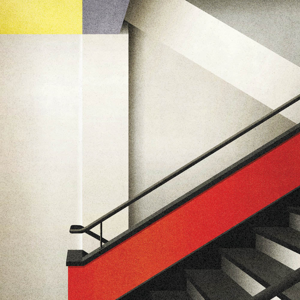 Bauhaus Stairway, Germany Colour Print