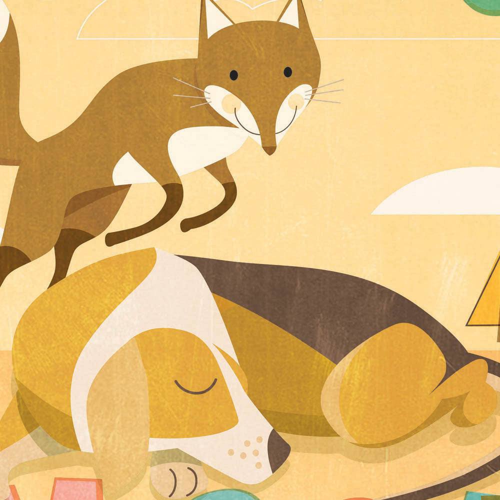 The Quick Brown Fox Kids' Colour Print