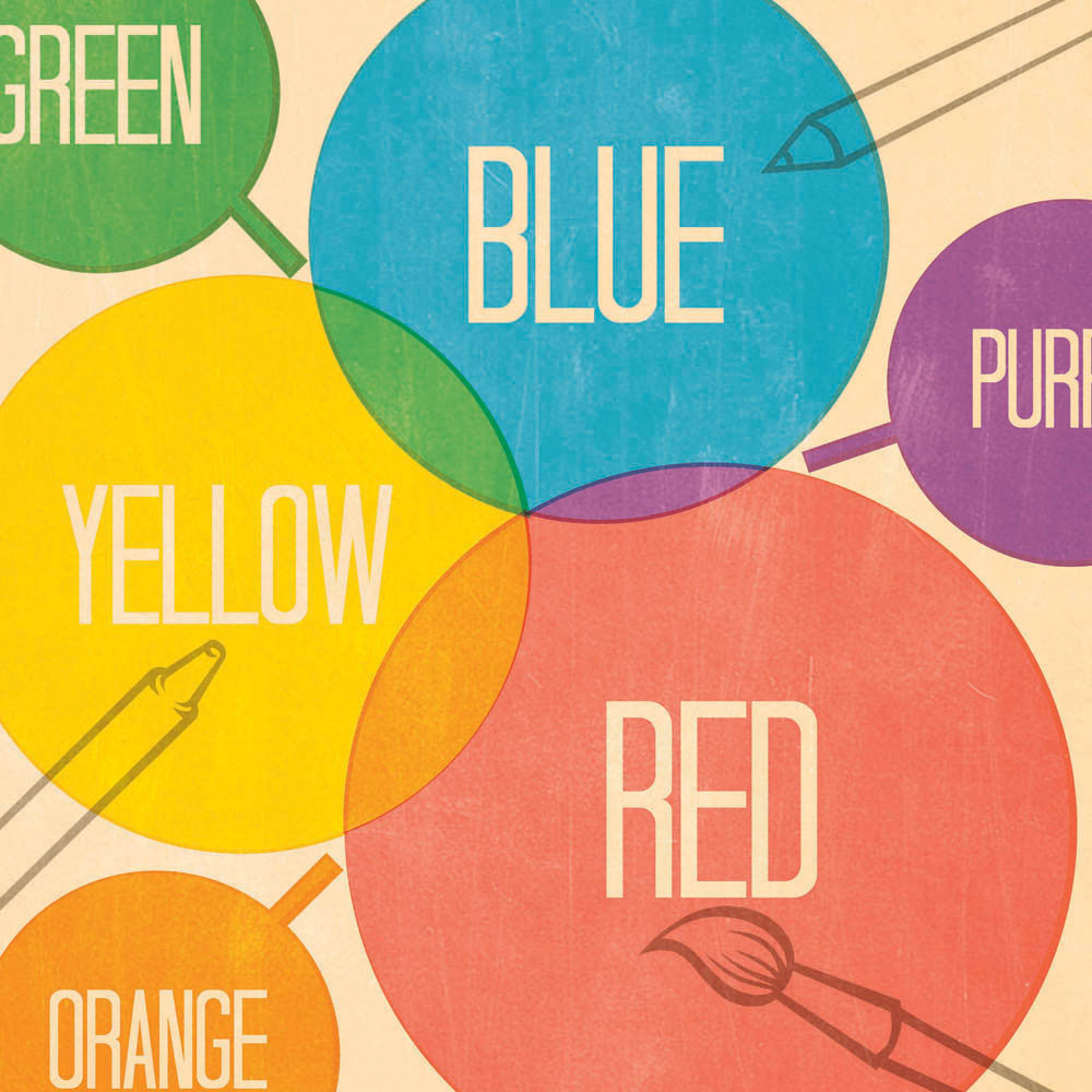 How The Colour Palette Works Kids' Print
