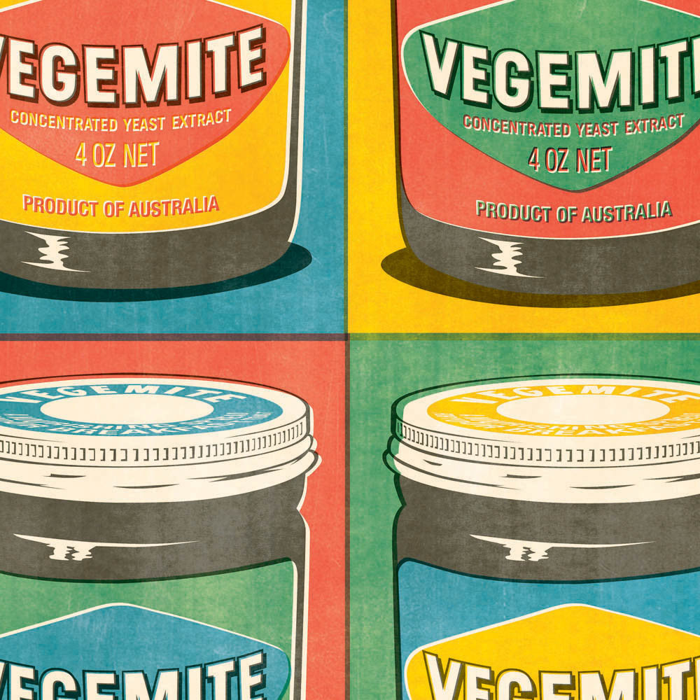 Vegemite Multiple Pop Art Colour Print