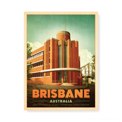 Queensland Brewery Brisbane Colour Print