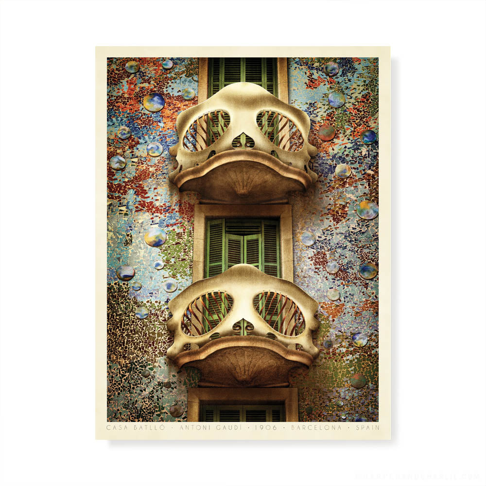 Casa Batlló Barcelona colour print by Harper and Charlie