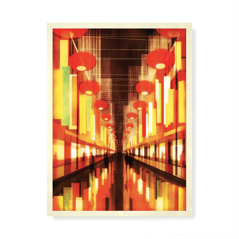 Chinatown colour print by Harper and Charlie