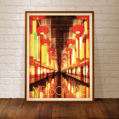 Chinatown Melbourne colour poster framed by Harper and Charlie