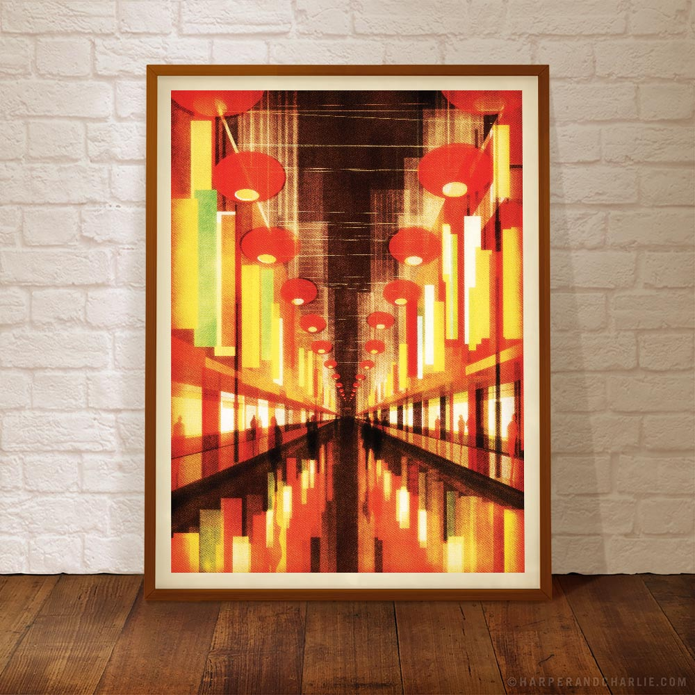 Chinatown colour print framed by Harper and Charlie