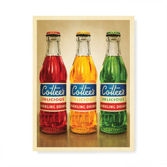 Cottee's Sparkling Drink three colour print by Harper and Charlie