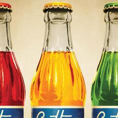 Cottee's Sparkling Drink three colour print close up