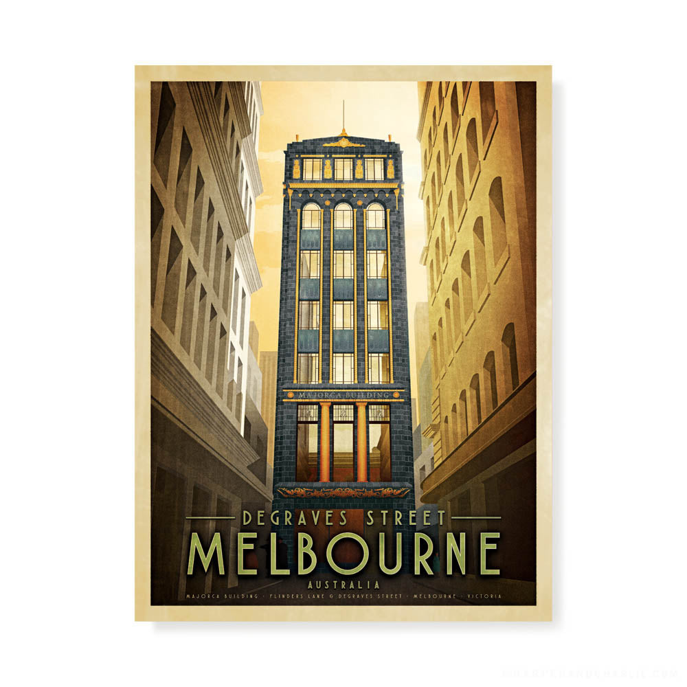 Degraves Street, Melbourne colour print by Harper and Charlie