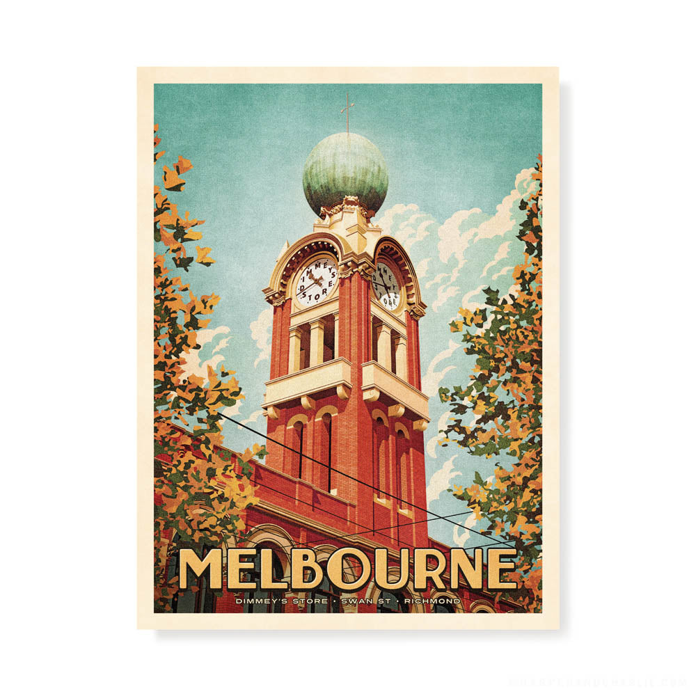 Dimmeys Store Melbourne Colour Print by Harper and Charlie
