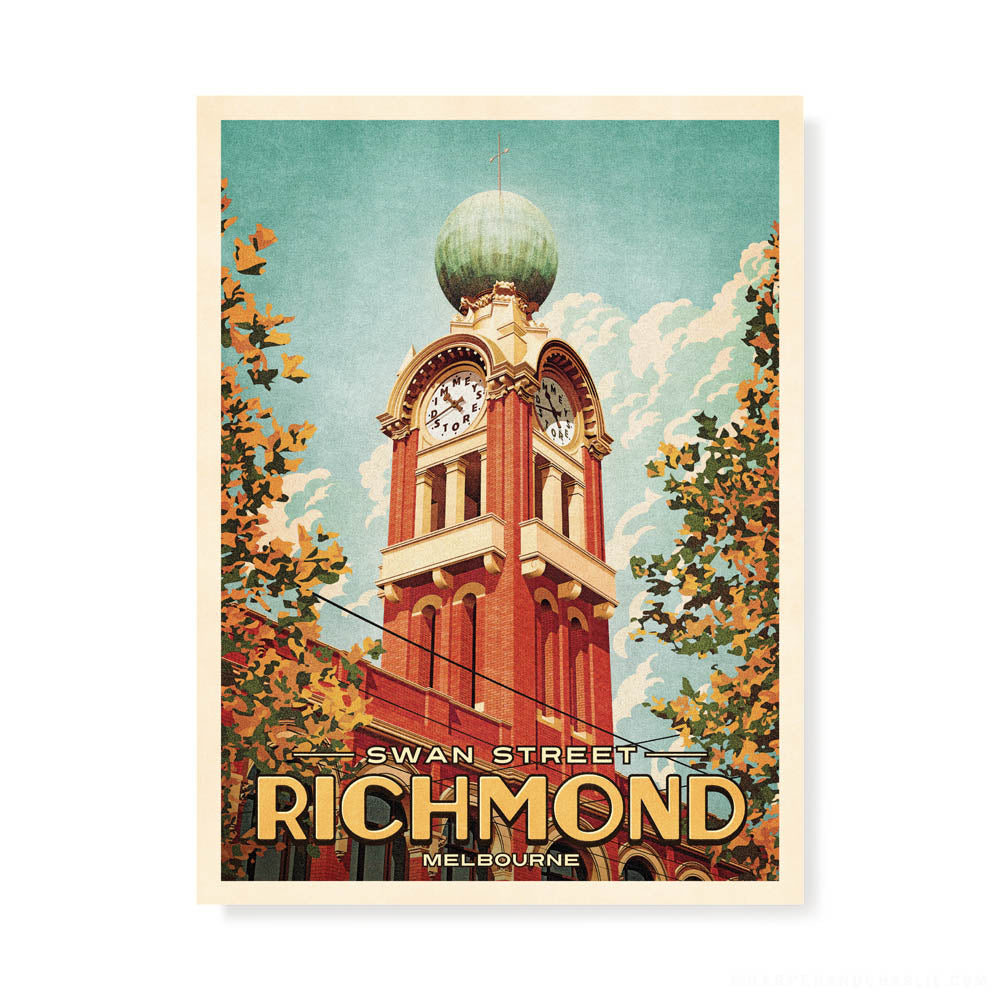 Dimmeys Swan Street Richmond Colour Print by Harper and Charlie