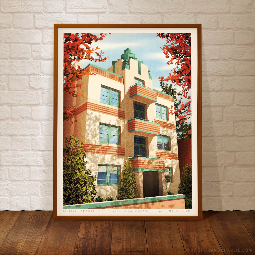 Dorijo Apartments East Melbourne Colour Poster by Harper and Charlie
