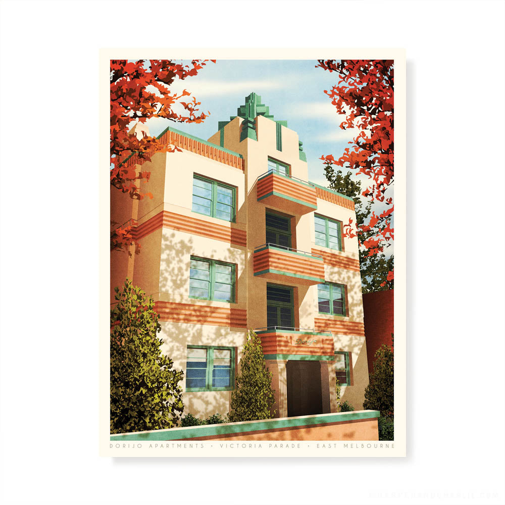 Dorijo Apartments East Melbourne Colour Print by Harper and Charlie