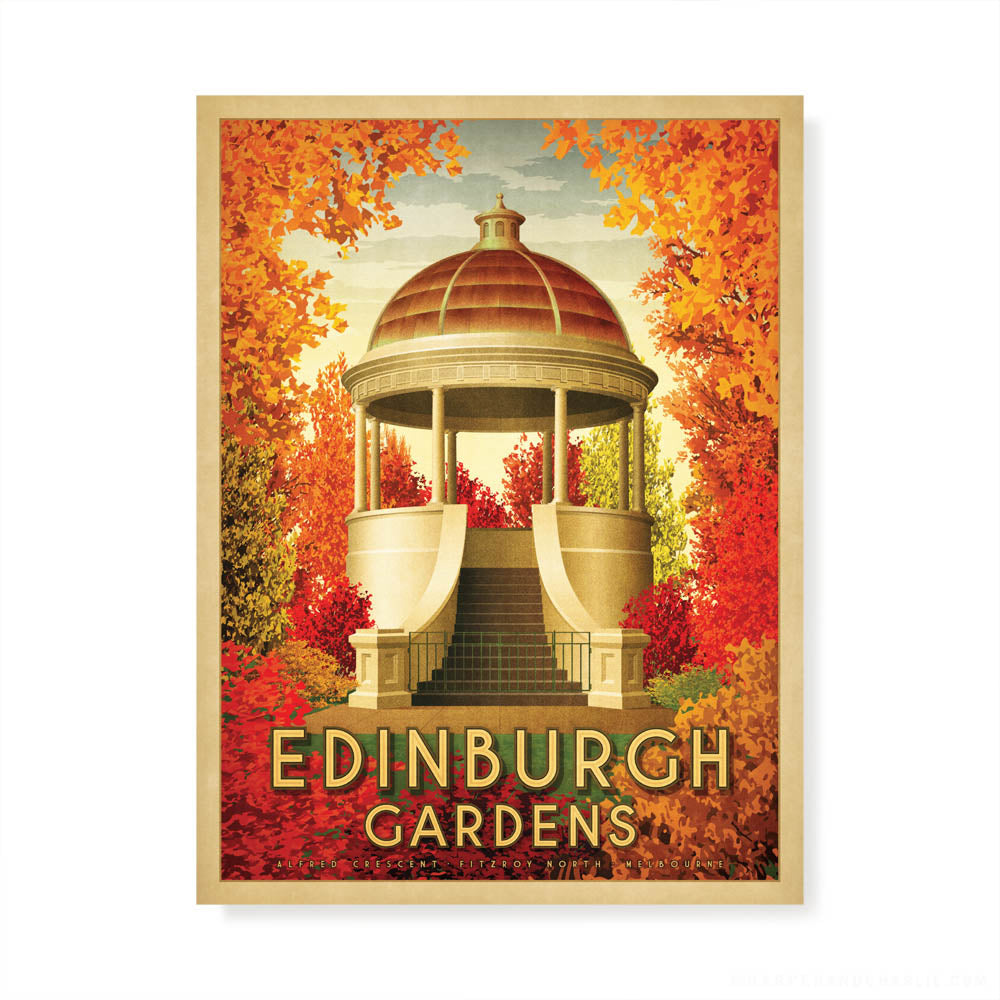 Edinburgh Gardens North Fitzroy colour print by Harper and Charlie