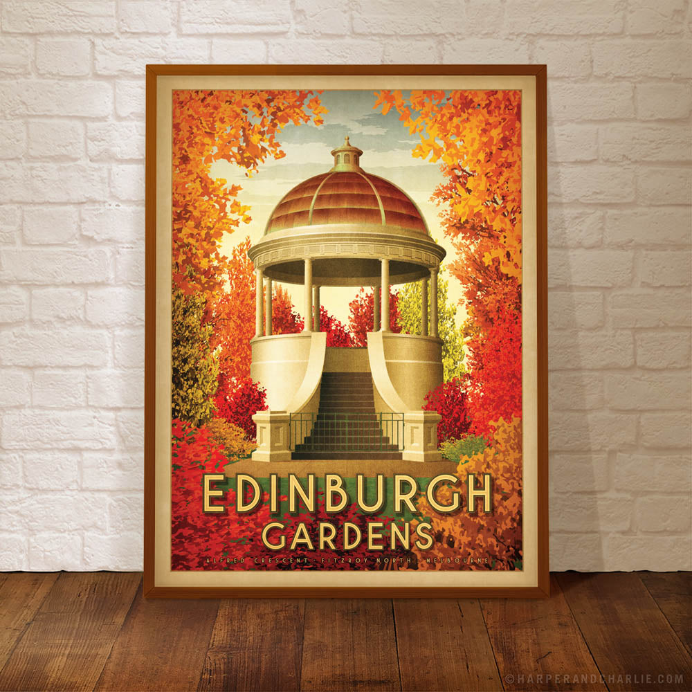 Edinburgh Gardens North Fitzroy framed colour print by Harper and Charlie