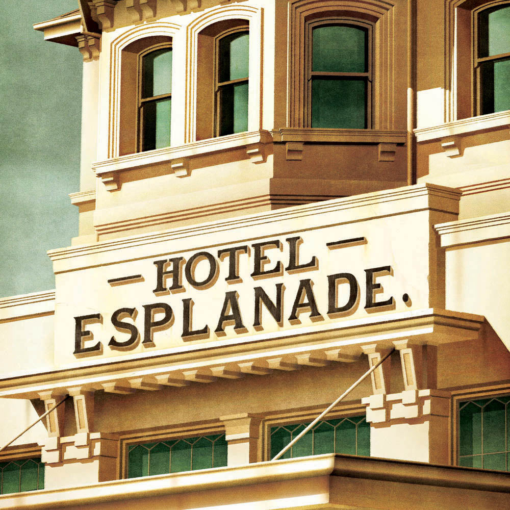Hotel Esplanade Colour Print Close Up