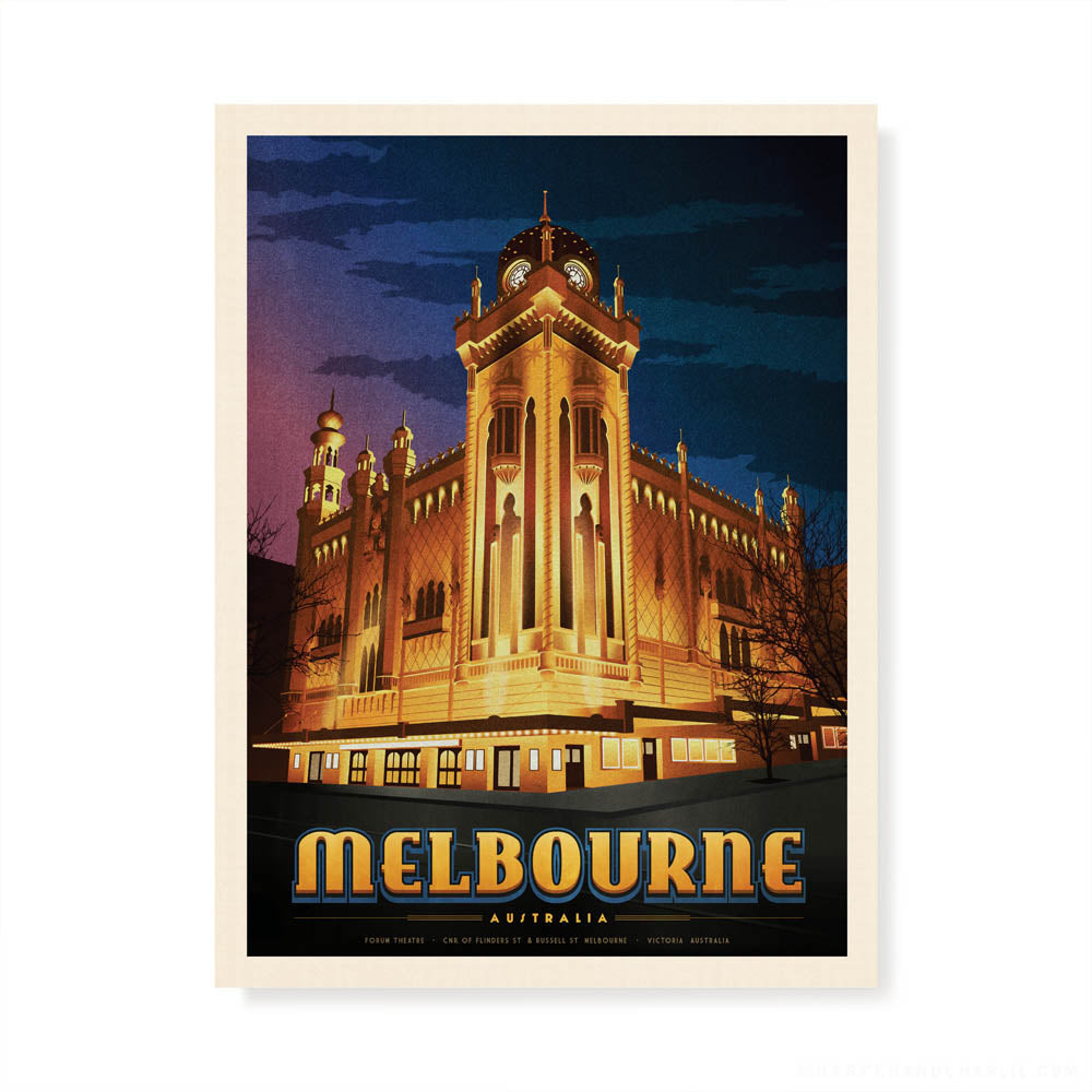 The Forum Theatre Melbourne colour print by Harper and Charlie