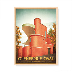 Glenferrie Oval Hawthorn Colour Print by Harper and Charlie
