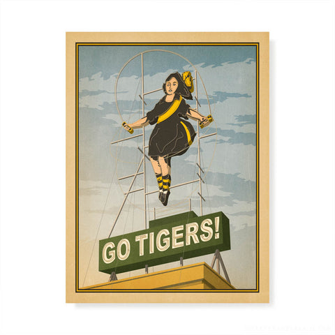 Go Tigers Richmond Skipping Girl print by Harper and Charlie