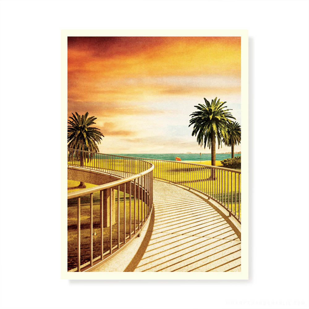 Jacka Boulevard Footbridge St Kilda Colour Print