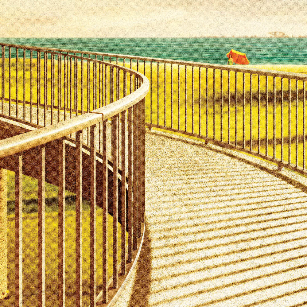 Jacka Boulevard Footbridge St Kilda Colour Print Close Up